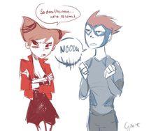 titan avengers, jinx and kid flash