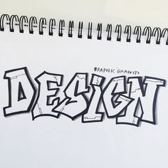 """Today's #BetterLetteringCourse #ExpandYourStyleApril prompt: """"Graphic Graffiti""""   When I was in middle school I used to day dream about learning how to draw """"graffiti style"""" letters but I convinced myself they were too complicated and I wasn't good at it. Today I got to prove my middle school self wrong! It was actually really fun!! I just penciled regular caps block letters and added funky angles until it felt like graffiti!  Now who has a wall I can tag?    If you want to learn lettering…"""