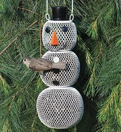 Build a Snowman for the Birds!