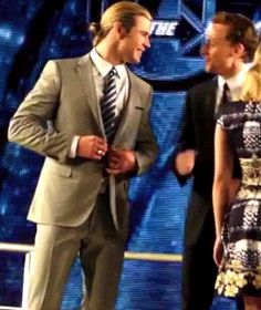 The Hiddles wiggle - gif so cute!! I want to be in a dancewich between him and Benedict. It would be perfect. 3 goofy dancers. Although, they might make me look even more horrible than I already do while I dance...