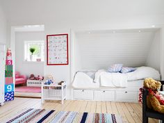 Perfect built-in bed for the attic room