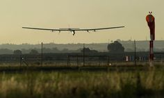Solar Plane Lands In Spain After Historic Atlantic Crossing