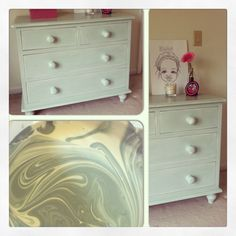 Mixed Old White with Duck Blue to get this gorgeous color found in old English country homes.  #ASCP
