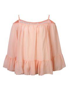 Sale 18% (13.53$) - Casual Women Strapless Chiffon Long Sleeve Ruffles Halter Tops