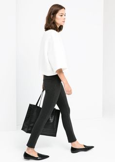 MANGO - Button fastening leggings #FW14 #New #Collection