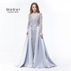 d153a1aa103852 Real Photos Long Sleeves Evening Dress Formal Handmade Crystal Ball gown  Full Beaded OL103025 Long Sleeve
