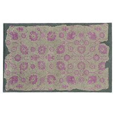 Check out this item at One Kings Lane! Color Influence Rug, Gray/Pink