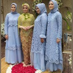 Model Kebaya Brokat Modern, Kebaya Modern Dress, Kebaya Dress, Abaya Style, Hijab Style, Dress Brokat Muslim, Kebaya Muslim, Moslem Fashion, Women's Fashion