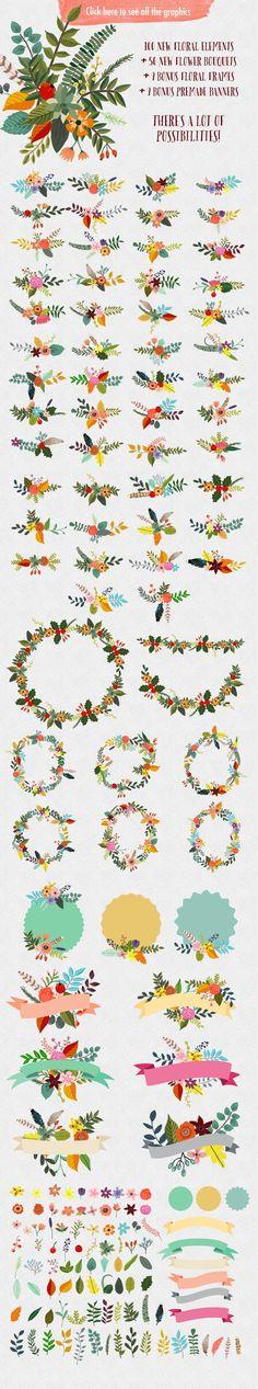Vintage Flowers III by Mia Charro on Creative Market