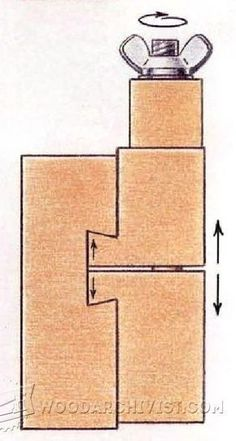 Adjustable Stop Block - Marking and Measuring Tips, Jigs and Techniques - Woodwork, Woodworking, Woodworking Plans, Woodworking Projects #woodworkingtips