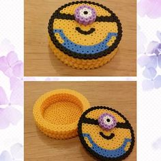 Minion box hama beads by Angy Kawaii