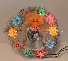 Check out our christmas angel topper selection for the very best in unique or custom, handmade pieces from our shops. Vintage Tree Toppers, Vintage Christmas Tree Toppers, Angel Christmas Tree Topper, Christmas Angels, Xmas, Handmade Shop, Handmade Items, Handmade Gifts, Halloween