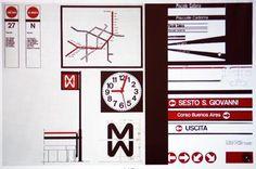 Segnaletica Metro Milano, Bob Noorda