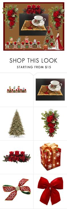 """""""Quilted Mug Mat"""" by bamasbabes ❤ liked on Polyvore featuring National Tree Company, Nearly Natural and Royal Doulton"""