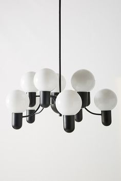 Lucia Chandelier by Anthropologie in Brown, Lighting - All For Decoration Interior Lighting, Home Lighting, Modern Lighting, Lighting Design, Plywood Furniture, Hanging Furniture, Tiffany Chandelier, Chandelier Pendant Lights, Black Chandelier