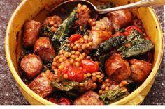Lentils, tomato, sausage and cavolo nero – Recipes – Bite