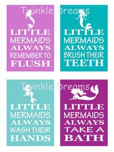 Printable Download Digital File Mermaid print by ModernTwinkle, $5.00