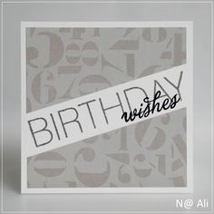 Card#0397 - Uniko Studio - clear stamps and die cuts - FONTiments Birthday & All Occasion Sentiments #2