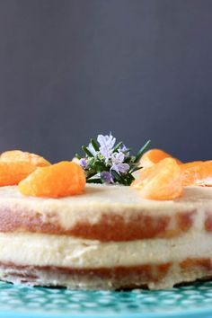 This Gluten-Free Vegan Orange Cake is moist and fluffy, fresh and citrusy and filled with a rich buttercream! Eggless Desserts, Gluten Free Desserts, Vegan Desserts, Vegan Cake, Delicious Vegan Recipes, Healthy Dessert Recipes, Healthy Deserts, Allergy Free Recipes, Baking Recipes