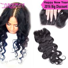 curly hair tapered weave brazilian hair closure with natural part 008