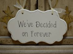 Wedding Sign Hand Painted Wooden Cottage Chic Sign by kimgilbert3, $24.00