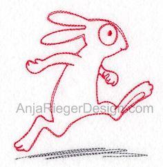 Running bunny-