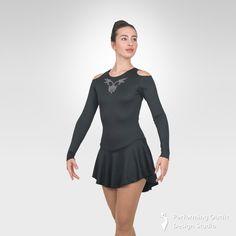 Eire figure skating long sleeve dress - Performing Outfit Design Studio Store Gymnastics Outfits, Gymnastics Leotards, Latin Ballroom Dresses, Ice Skating Dresses, Figure Skating, Dance Costumes, New Product, Designer Dresses, Skate