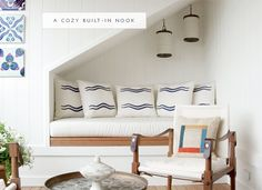a cozy built-in nook under the stairs | coco+kelley - in the details