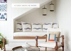 a cozy built-in nook