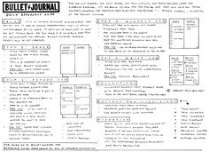 Bullet journal quick reference guide. Print and hand out to those curious!