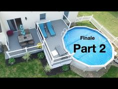 Above Ground Pool Landscaping, Above Ground Pool Decks, In Ground Pools, 2 Level Deck Ideas, Two Level Deck, Patio Extension Ideas, Decks Around Pools, Pool Organization, Pool Deck Plans