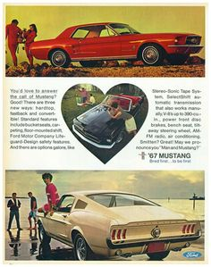 Selling the first generation Ford Mustang - 1960's style