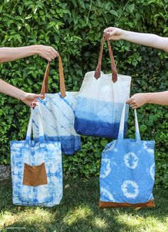 Make your own indigo tote bags with inspiration, tips and techniques from handcrafted lifestyle expert Lia Griffith.