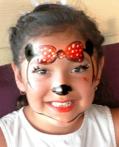 Happy Minnie Mouse face painting