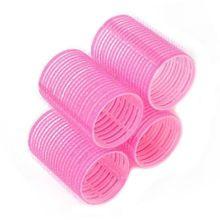 6 pcs/1 pacote Aperto Cling Hair Styling Rollers Curler Cabeleireiro Ferramenta DIY 7 Tamanhos Cor de Forma Aleatória alishoppbrasil