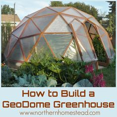 How to build a GeoDome greenhouse. What materials to use. What plan to go by and tools needed. How to do the cutting. How to assemble and cover the Geodesic Dome.