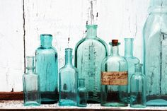 Vintage Bottles are sooo fun. Tey are interesting alone or in a group. Flowers bring them to life.