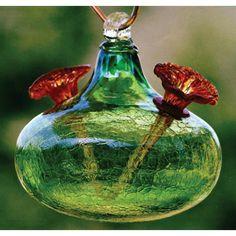 Hummingbird Feeders For Sale | BirdBrain Crackle Glass Hummingbird Feeder  Glass Hummingbird Feeders, Humming Bird