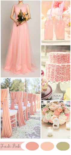 fresh pink spring wedding inspiration and gorgeous bridesmaid dresses
