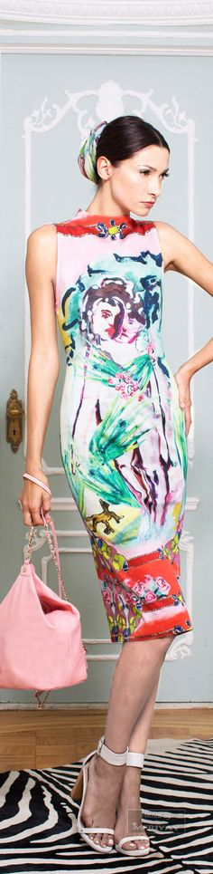 Alice + Olivia.Spring 2015. looks like a MARC CHAGALL PAINTING.......