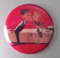 Bewitched ONE INCH button pin badge pinback by kickbrightzineshop, $1.50