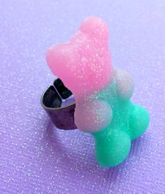 Teddy Bear resin candy ring. It looks like a gummy bear!