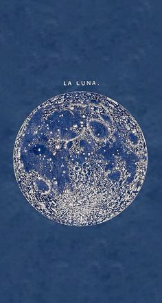 'La Luna' full moon print from an 1878 vintage print Witchy Wallpaper, Retro Wallpaper, Hippie Wallpaper, Blue Backgrounds, Wallpaper Backgrounds, Fitness Backgrounds, Retro Poster, Poster Vintage, Phone Wallpapers