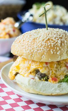 Southern Pimiento Cheese Burger | 25 Incredibly Cheesy Recipes You Need In Your Life