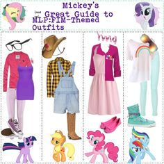 mlp inspired outfits. I like rainbow dash's best.