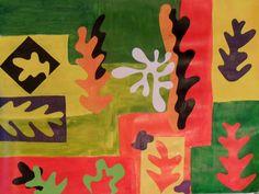 Collage façon Matisse, par Amandine (11 ans), (Matisse cutouts with kids)