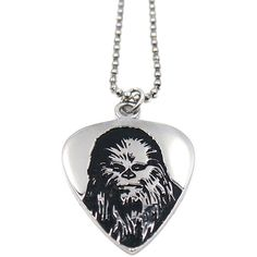 Han Cholo The Chewbacca Guitar Pick Pendant in Silver ($44) ❤ liked on Polyvore featuring men's fashion, men's jewelry, men's necklaces, jewelry, silver, mens silver necklace, mens guitar pick necklace and mens pendant necklaces