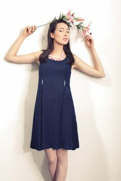 Fall blue dress  Casual dress  Classic dress  by IsidoraFashion