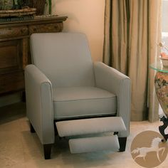 @Overstock.com - Christopher Knight Home Darvis Grey Recliner Club Chair - Relax in style with this recliner club chair featuring a solid frame and sturdy feet for added stability and strength. This comfortable reclining chair is great for small spaces and functions as a great place to take a nap or read a book.   https://www.overstock.com/Home-Garden/Christopher-Knight-Home-Darvis-Grey-Recliner-Club-Chair/6843248/product.html?CID=214117 $222.99