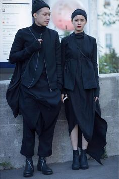 Joe Chia and Melissa Deng in Paris wearing Rick Owens